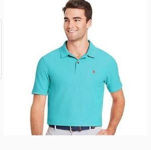 Izod GREEN Polo Shirt Size Small Sport Flex